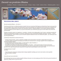 Vitalpause31 - Article - Devenir un praticien Shiatsu