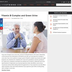 Vitamin B Complex and Green Urine