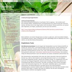 Vitamin B12: Untersuchungsmöglichkeiten
