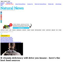 B vitamin deficiency will drive you insane - here's the best food sources