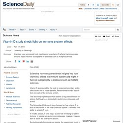 Vitamin D study sheds light on immune system effects
