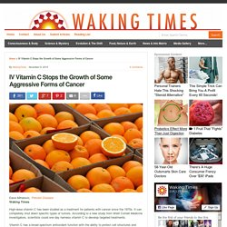 IV Vitamin C Stops the Growth of Some Aggressive Forms of Cancer