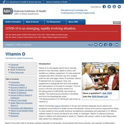 Vitamin D — Health Professional Fact Sheet