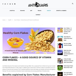 Vitamin and Mineral Facts of Corn Flakes Breakfast Product