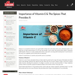 Vitamin C- Sources, Benefits, and Intake