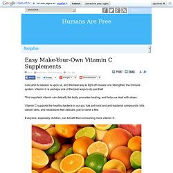 Easy Make-Your-Own Vitamin C Supplements