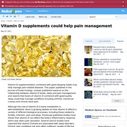 Vitamin D supplements could help pain management