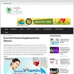Vitamin supplements for women