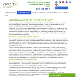 Vitamin and Weight Loss Therapy - Vivacitylifecenter