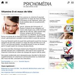 Vitamine D et maux de tête