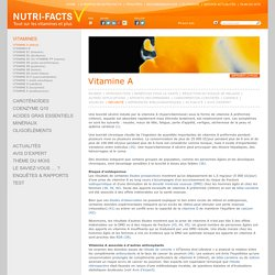 Vitamine A, Effet Indésirable, Surdosage - Nutri-Facts.org