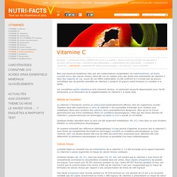 Vitamine C, Effet Indésirable, Surdosage - Nutri-Facts.org