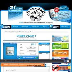 Vitamine C Quali®-C Nutrimuscle - 450 G : 29.50€ + livraison gratuite.