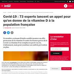 Covid-19 : 73 experts lancent un appel pour qu'on donne de la vitamine D à la population française