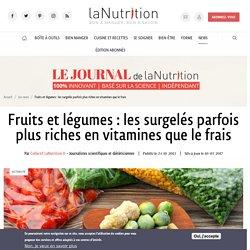 Fruit et légumes surgelés : vitamines et apports nutritionnels