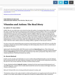 Vitamins and Autism: The Real Story