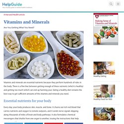Vitamins & Minerals: Are You Getting What You Need?