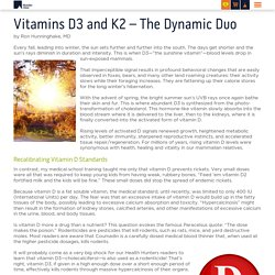 Vitamins D3 and K2 - The Dynamic Duo - Riordan Clinic
