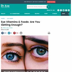 Eye Vitamins & Foods: Are You Getting Enough?