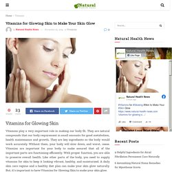 Vitamins for Glowing Skin to Make Your Skin Glow