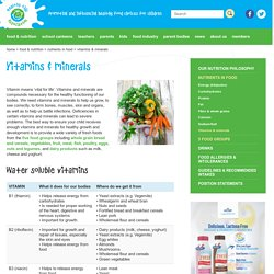 Vitamins & minerals - Healthy Kids