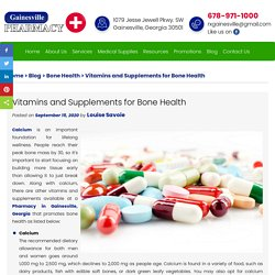 Vitamins and Supplements for Bone Health
