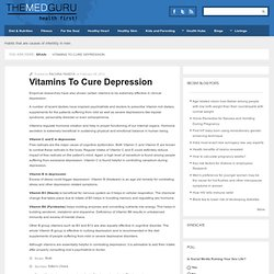 Vitamins To Cure Depression