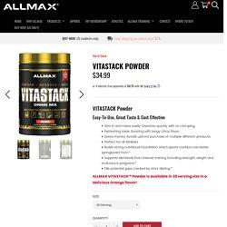 VITASTACK POWDER Improves Athletic Performance - Allmax Nutrition