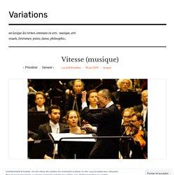 Vitesse (musique) – Variations