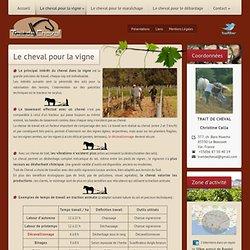 Travaux viticoles en traction animale, travaux agricoles dans le VAR et PACA