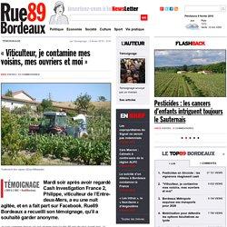 """""""Viticulteur, je contamine mes voisins, mes ouvriers et moi"""""""