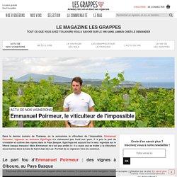 Emmanuel Poirmeur (EgiaTegia) : du vin sous la mer au Pays Basque