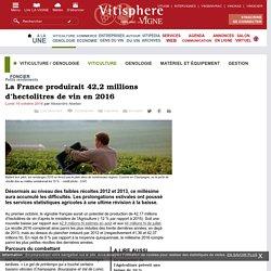 Viticulture / oenologie : La France produirait 42,2 millions dhectolitres de vin en 2016