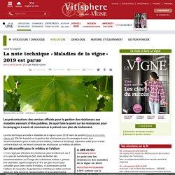 VITISPHERE 09/01/19 La note technique «Maladies de la vigne» 2019 est parue
