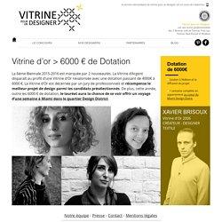"Vitrine d'Or ""Vitrine pour un Designer"""