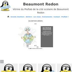 Vitrine du Proflab de la cité scolaire de Beaumont Redon