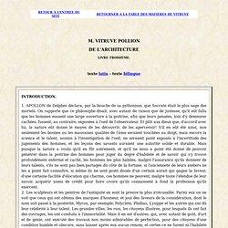 Vitruve : de l'Architecture : livre 3