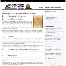 L'Homme de Vitruve, vu par Léonard de Vinci