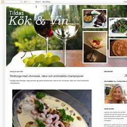 Tildas Kök och Vin: Rödtunga med vitvinssås, räkor och smörstekta champinjoner