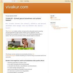vivakur.com: VIVAKUR - Schnell gesund abnehmen und schlank bleiben!