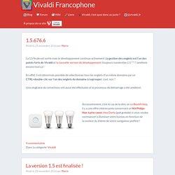 Vivaldi Francophone Le blog vivaldien