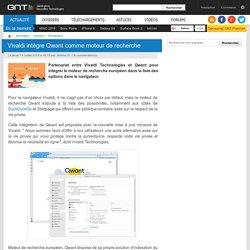 Vivaldi intègre Qwant comme moteur de recherche