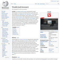 Vivaldi (web browser)