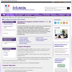 Langue vivante - Enseigner les langues à l'école