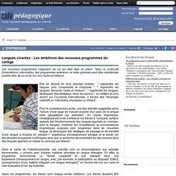 Langues vivantes : Les ambitions des nouveaux programmes du collège