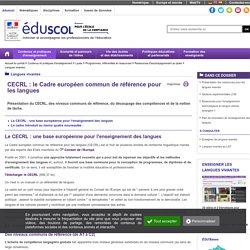 ÉduSCOL - Langues vivantes/Cadre européen commun de référence