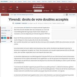 Vivendi: droits de vote doubles acceptés
