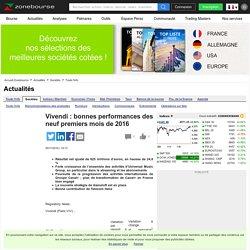 Vivendi: bonnes performances des neuf premiers mois de 2016