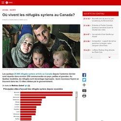 Où vivent les réfugiés syriens au Canada?