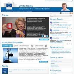 Vice-présidente Viviane RedingCommission européenne - Viviane Reding